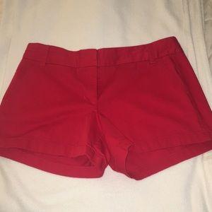 """J.Crew red  """"Chino"""" shorts"""